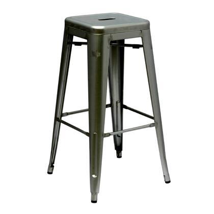 Fine Mod Imports FMI1001530GUNMETAL Talix Series Residential Not Upholstered Bar Stool