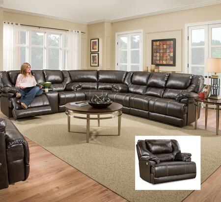 Simmons Upholstery 50451BR65630716195BINGOBROWN Bingo Living