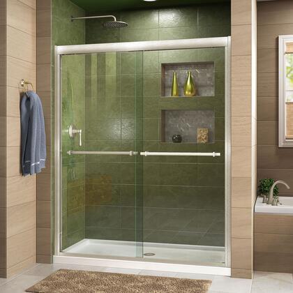 DreamLine Duet Shower Door RS43 BN Center Drain