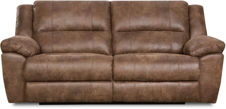 Simmons Upholstery 50111BR53PHOENIXMOCHA Phoenix Series Stationary Bycast Leather Sofa