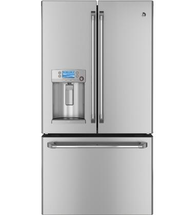 ge cafe cfe29tsdss french door refrigerator with 28 6 cu ft capacity in stainless steel. Black Bedroom Furniture Sets. Home Design Ideas