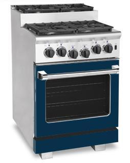 American Range ARR244SDB Titan Series Gas Freestanding Range with Sealed Burner Cooktop, 3.71 cu. ft. Primary Oven Capacity, in Dark Blue