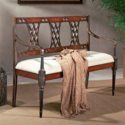 Butler 0965239 Accent  Wood Fabric Bench