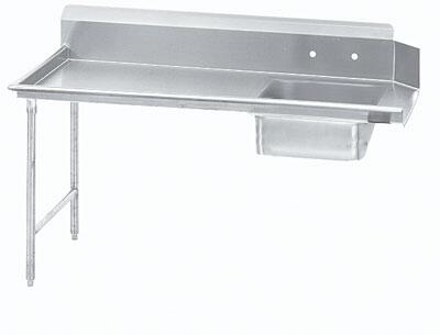 "Advance Tabco DTS-S60-60 59"" Standard Soil Straight Dishtable"