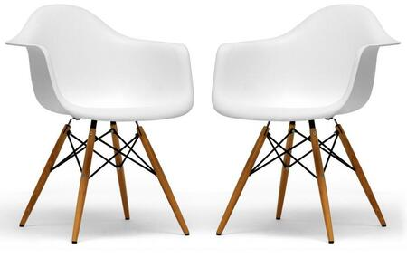 Wholesale Interiors DC866WHITE Pascal Series  Dining Room Chair