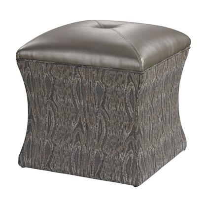 Sterling 139010 Luxe Series Faux Leather Wood Frame Ottoman