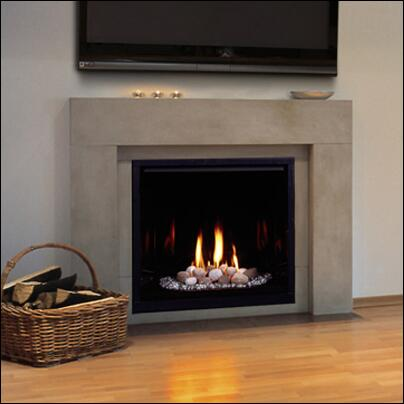 Picture of 300DVBLNSC7 33 Top Vent Clean Face Direct Vent Fireplace  Signature Command Control  Natural