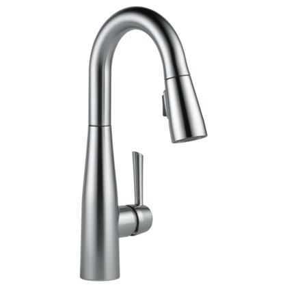 Essa  9913-AR-DST Delta Essa: Single Handle Pull-Down Bar / Prep Faucet in Arctic Stainless