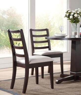 Acme Furniture 70041 Indiana Series Contemporary Fabric Dining Room Chair