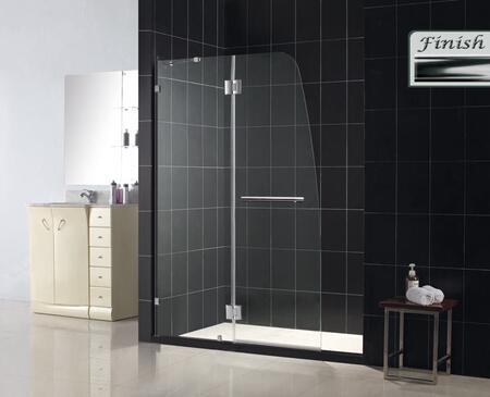 DreamLine SHDR-3345728 Aqua Lux Hinged Shower Door With Self-Closing Solid Brass Hinges, Reversible For Right Or Left Configuration, Wall-Attached Bar For Stationary Glass & In