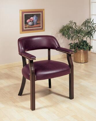 """Coaster Home Office Collection 511 24"""" Office Chair with Leatherette Upholstery, Antique Brass Nail-Heads and Padded Seat Cushion in Cappuccino Finish"""