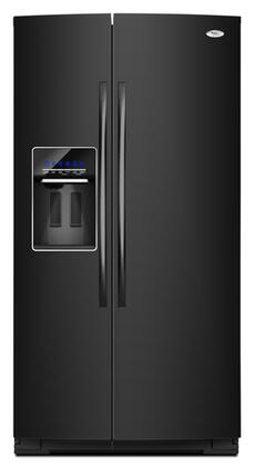 Whirlpool GSS26C4XX Gold 26.4 cu. ft. Side by Side Refrigerator with MicroEtch Spill Control Glass Shelves and External Ice/Water Dispenser