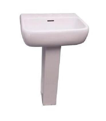 Barclay 393WH Metropolitan Collection Vitreous China 420 Pedestal Lavatory: