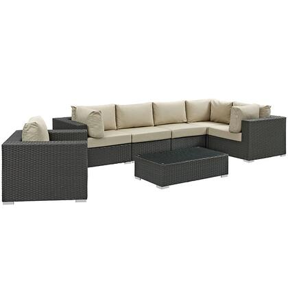 Modway EEI1878CHCBEISET Rectangular Shape Patio Sets