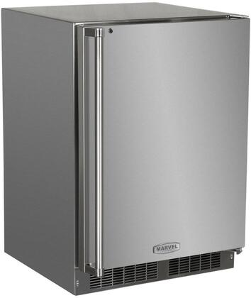 "Marvel MO24FAS1xS 24"" Outdoor All Freezer with 4.7 cu. ft. Capacity, Marvel Prime Controls, Dynamic Cooling Technology, LED Lighting, and FreshFlo Shelf, in Stainless Steel with"