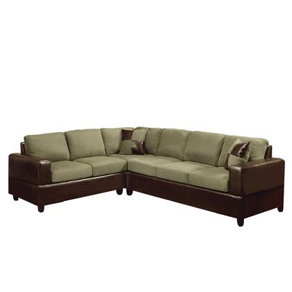 Acme Furniture 00100A Alongo Series Sectional Sofas Leather Sofa
