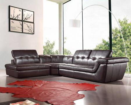 VIG Furniture VGEV397ESP Divani Casa Refata Series Stationary Leather Sofa