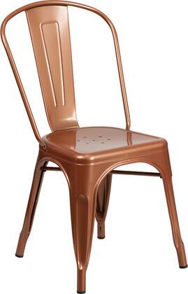 "Flash Furniture ET-3534 17"" High Metal Indoor-Outdoor Stackable Chair with Lightweight Design, Cross Brace and Rubber Floor Guides in"
