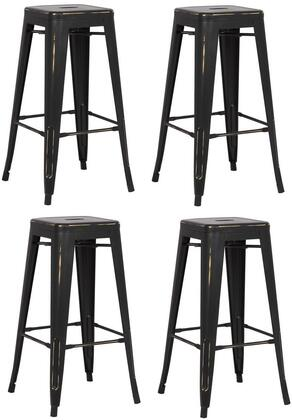 EdgeMod EM126DISBLKX4 Trattoria Series Commercial Not Upholstered Bar Stool