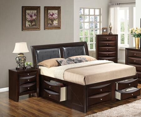 Glory Furniture G1525IFSB4NCH G1525 Full Bedroom Sets