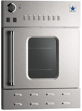 "BlueStar BWO24AGSx 24"" Single Wall Oven with Convection, 3 Full Extension Oven Racks, Dual Halogen Lights, 25,000 BTU Burner, Ceramic Infrared Broiler and Heavy-Duty Control Knobs, with Right Hinge"