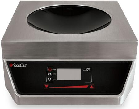 CookTek Apogee Counter Top Wok with LED Display For Power Level, Rotary Knob Foe Easy Control, Clean Interface, Glass-Ceramic Bowl and Stainless Steel Housing