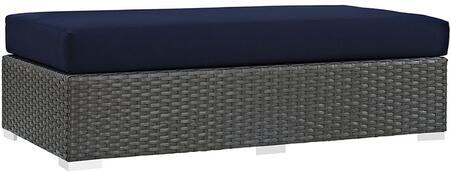 Modway EEI1863CHCNAV Rectangular Shape Patio Ottoman