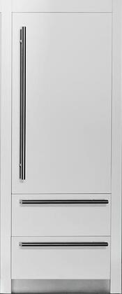 """Fhiaba FI30BI- 30"""" Integrated Series Built In Bottom Freezer Refrigerator with 15.5 cu. ft. Capacity, Ice Maker, TriPro Refrigeration, TotalNoFrost and OptiView: Panel Ready with"""