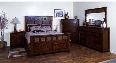 Sunny Designs 2322DCQBDM2NC Santa Fe Queen Bedroom Sets