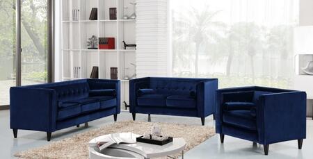 Meridian 642NAVYSLC Taylor Living Room Sets
