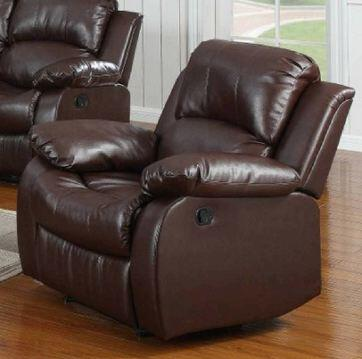 Yuan Tai 1070CBRN Kaden Series Contemporary Leather Wood Frame  Recliners