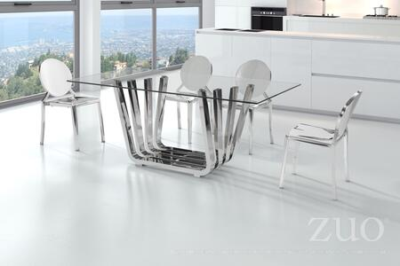 """Zuo 10055 Eclispe 18"""" Dining Chair with Round Back and Classic French Design"""