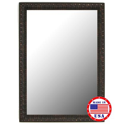Hitchcock Butterfield 81130X 2nd Look Reddish Mahogany Leaves Framed Wall Mirror