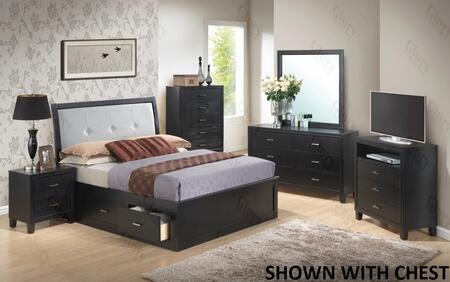 Glory Furniture G1250FKSB2DMNTV G1250 King Bedroom Sets