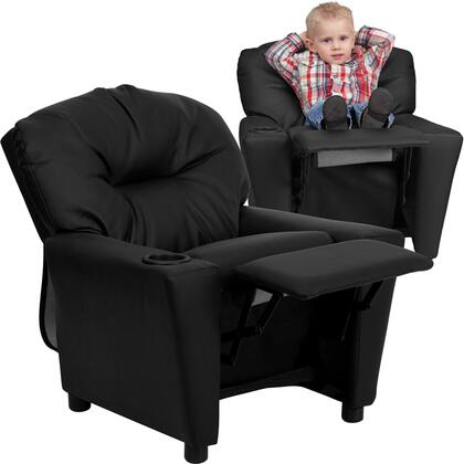 Flash Furniture BT7950KIDBKLEAGG Childrens Leather Wood Frame  Recliners |Appliances Connection