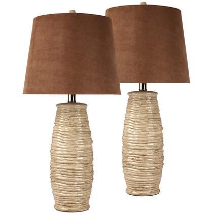 Haldis Beige Ceramic Table Lamp