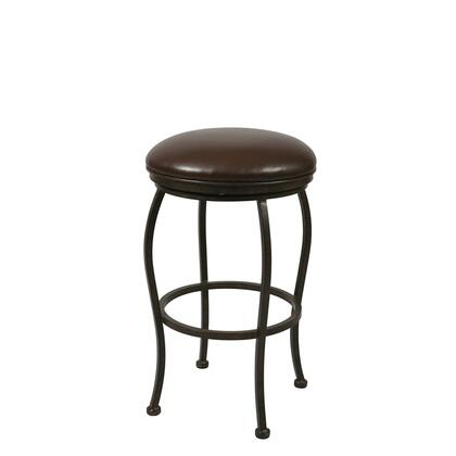Pastel Furniture QLIF215 Island Falls Counter Height Backless Barstool in Brown