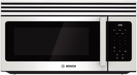 """Bosch HMV30 300 Series 30"""" Over-the-Range Microwave with 300 CFM Exhaust Capacity, 1100 Cooking Watts, Auto-Reheat Adjustment Feature, Auto-defrost and Timer"""