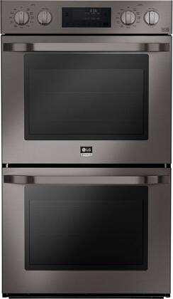 "LG Studio LSWD30 30"" Double Wall Oven with Two 4.7 cu. ft. Capacity Ovens, Pro-Style Knob Control Design, 4 Mode True Convection System, Smart ThinQ (NFC0), EasyClean Technology and Self Cleaning, in"