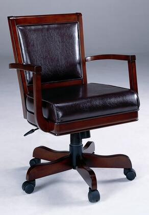 Hillsdale Furniture 6124801B Ambassador Series Armless Wood Bycast Leather Gaming Chair