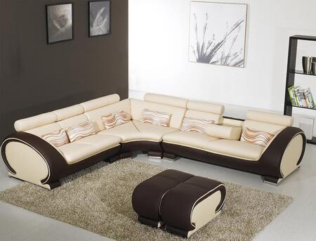VIG Furniture VGYI816B  Sofa and Chaise Leather Match Sofa