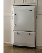 AGA AFHR36BRK Legacy Series Counter Depth Bottom Freezer Refrigerator with 20 cu. ft. Total Capacity 5.5 cu. ft. Freezer Capacity 4 Glass Shelves