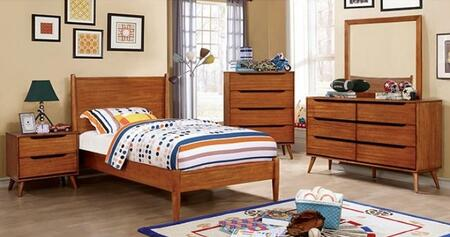 Furniture of America CM7386ATBEDSET Lennart Twin Bedroom Set
