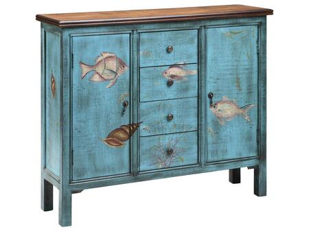 Stein World 12419 Bermuda Series Freestanding Wood 4 Drawers Cabinet