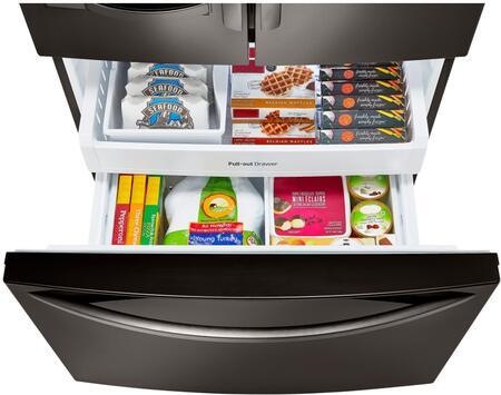 Lg Lfx25973d 36 Inch French Door Refrigerator In Black