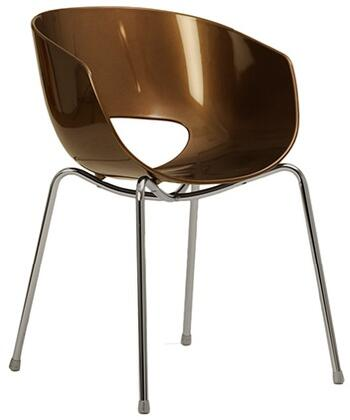 ITALMODERN L3468BRZ Orbit Series Modern Not Upholstered Metal and Plastic Frame Dining Room Chair |Appliances Connection