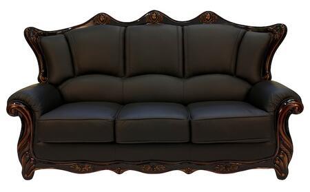 J. Horn 2209BLACKS 2209 Series Stationary Leather Sofa