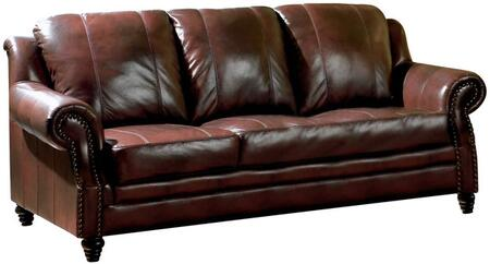 Coaster 500661 Princeton Series Stationary Leather Sofa