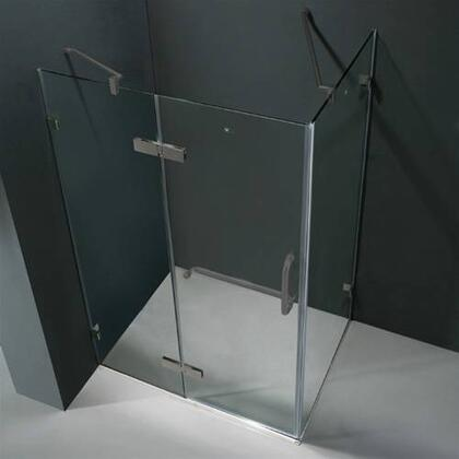 "Vigo VG6011XXCL48 32"" x 48"" Frameless 3/8"" Shower Enclosure:"