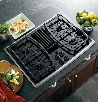 GE Profile PGP989SNSS Profile Series Gas Sealed Burner Style Cooktop with 4 Burners   Appliances Connection